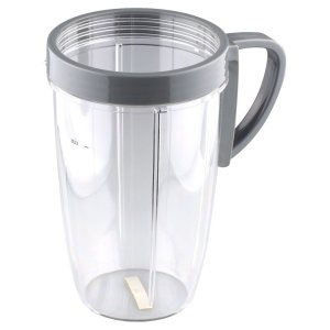 24 oz Tall Cup includes Handled Lip Ring Replacement Part Compatible with NutriBullet 600W 900W Blenders NB-101B NB-101S NB-201