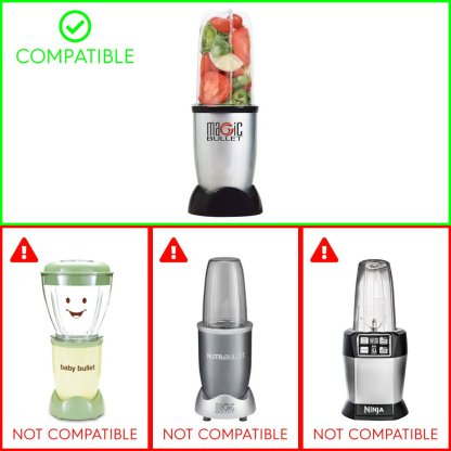 Compatible with Magic Bullet MB1001 250W Blenders