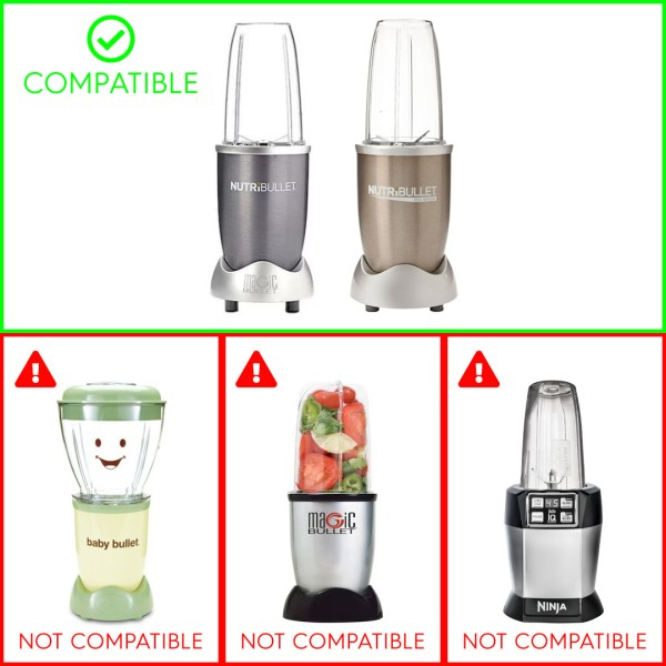 Compatible with NutriBullet 600W NB101B and NutriBullet 900W NB-101S NB-201