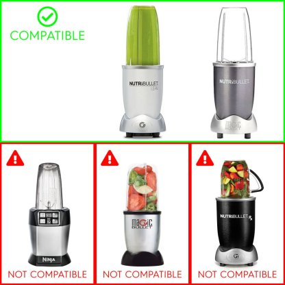 2 Pack 32 oz Colossal Cups + Extractor Blade Replacement Parts Compatible with NutriBullet Lean NB-203 1200W Blenders