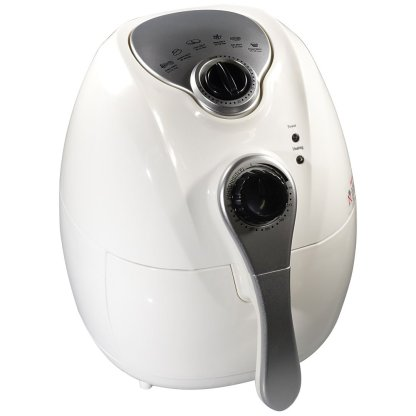 Felji 1300W Air Fryer White with Rapid Air Technology Low Fat Fryer Multi Functional Control