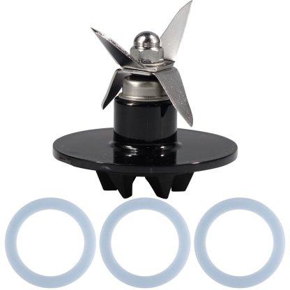 Cuisinart SPB-456-2B Blender Blade Replacement Black + 3 Cuisinart Blender Blade Gaskets SPB-456-3