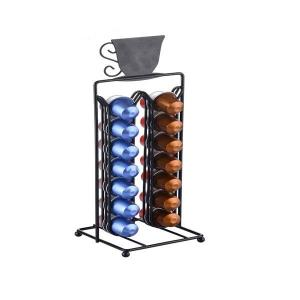 Felji 28 Capsule Nespresso Coffee Tower Dispenser Black Powder Coating