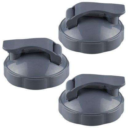 3 Pack NutriBullet Flip Top To-Go Lids NB-101b NB-101s
