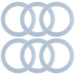 Hamilton Beach 6 Pack Blender Replacement Rubber Plastic Gasket Ring Seals