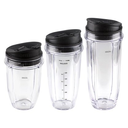 Nutri Ninja 18 24 32 oz Cups with Sip & Seal Lid Replacement Model 427KKU450 483KKU486 407KKU641 408KKU641