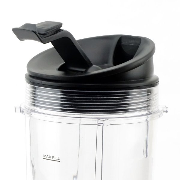 3 Nutri Ninja Jumbo Multi-Serve 32 oz Cups with Sip & Seal Lids and 1 Extractor Blade Replacement Combo 407KKU641 408KKU641 409KKU641