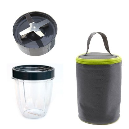 Extractor Blade + 18oz Short Cup + Blast Off Bag Replacement Parts Compatible with NutriBullet 600W 900W Blenders NB-101B NB-101S NB-201