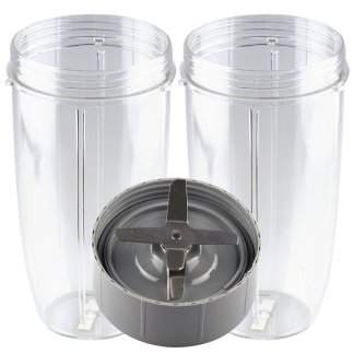 Extractor Blade + 2 Pack 32 oz Colossal Cups Replacement Parts Compatible with NutriBullet 600W 900W Blenders NB-101B NB-101S NB-201