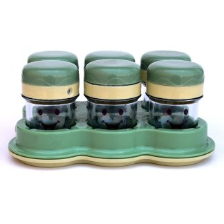 Baby Bullet Six Cups with Date Dial Lids Includes Tray