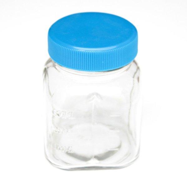 Oster Glass Mini Jar includes Lid 300 mL Blue