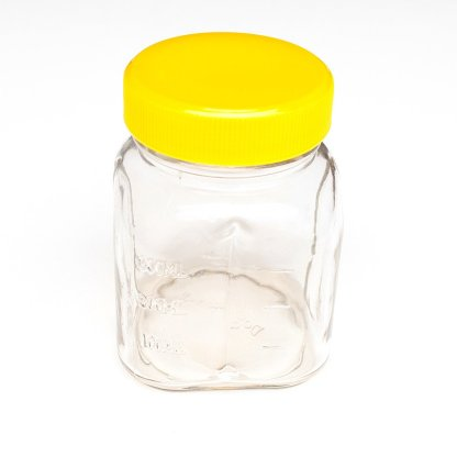 Oster Glass Mini Jar includes Lid 300 mL Yellow