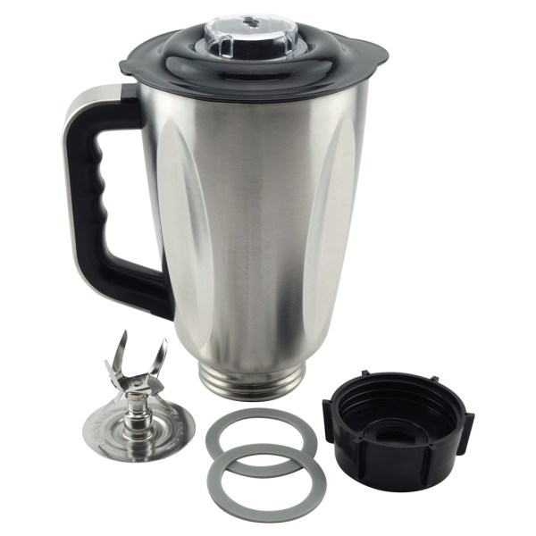 6-Cup Stainless Steel Jar 6-Piece Replacement Set with Fusion Blade for Oster Osterizer Blenders