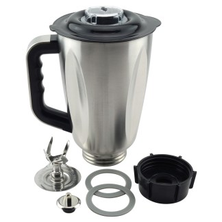 6-Cup Stainless Steel Jar 7-Piece Replacement Set with Fusion Blade for Oster Osterizer Blenders