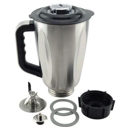 6-Cup Stainless Steel Jar 7-Piece Replacement Set for Oster Osterizer Blenders