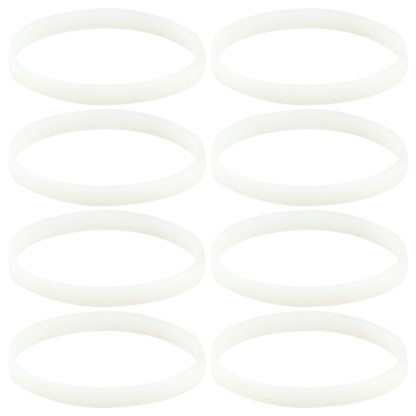 8 Pack White Gasket Rubber Sealing O-Ring Replacement Part for Nutri Ninja Auto-iQ Blenders BL480 BL681A BL682 BL640