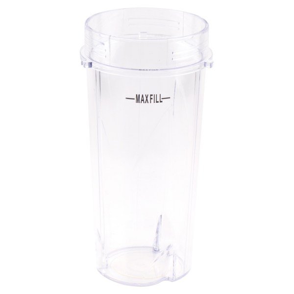 16 oz Cup with To-Go Lid Replacement Parts 384KKUB100 199KKU 305KKU Compatible with Nutri Ninja Blenders BL100 BL201 (3-Tabs)