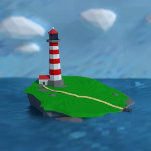 Low Poly Lighthouse – Blender Speedart