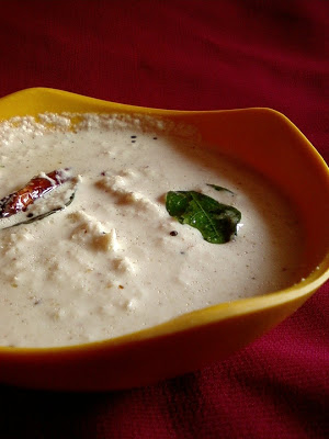 Kobbari Palleela Pachadi ~ Coconut Peanut Chutney