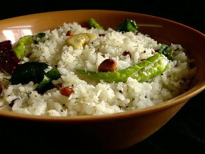 Kobbari Annam ~ Coconut Rice