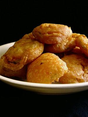 Keera Dosakaya Bajji ~ Cucumber Fritters