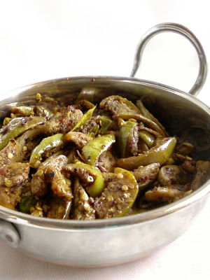 Vankaya Jeelakarra Karam ~ Cumin Flavoured Brinjal Curry