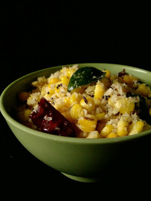 Corn Sundal ~ Boiled and Seasoned Corn