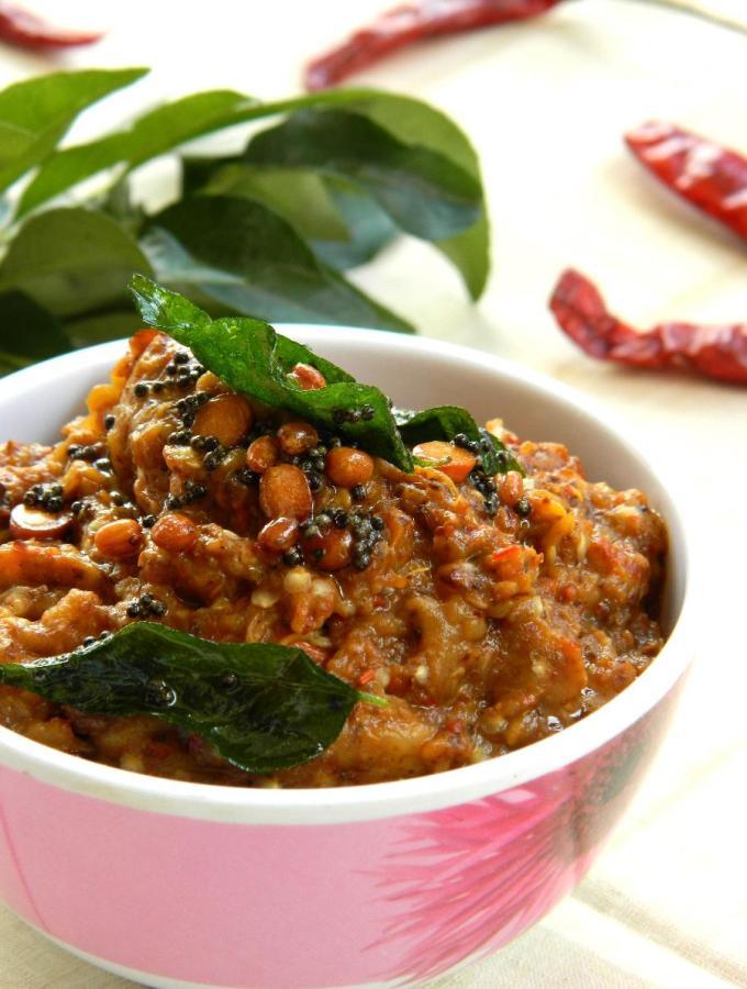 Kalchina Vankaya Pachadi ~ Roasted Eggplant Chutney Recipe