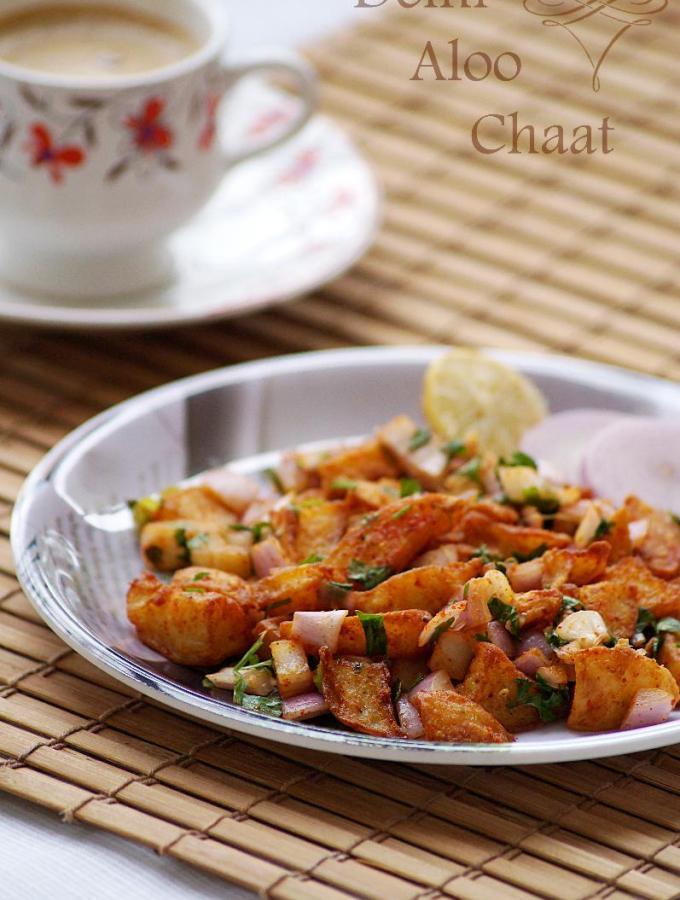 Delhi Style Fried Aloo Chaat Recipe