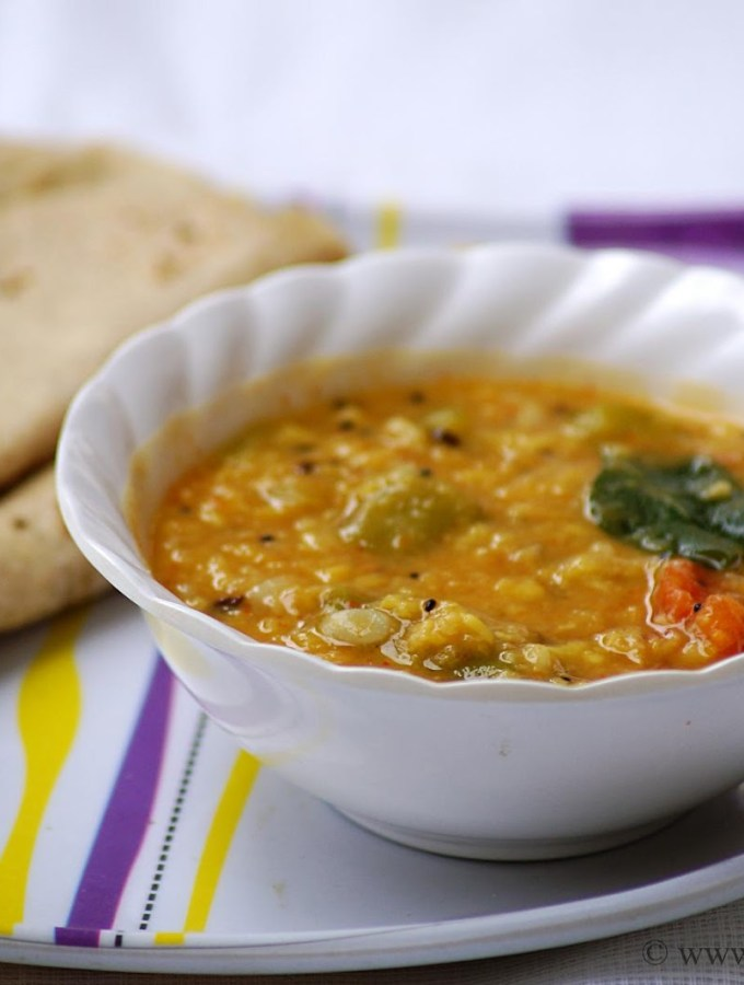 Ridge Gourd Dal with Moong Dal ~ Beerakaya Pesara Pappu Recipe
