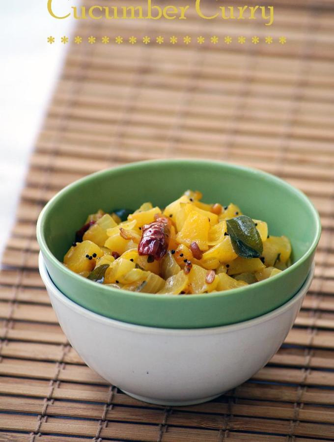Dosakaya Koora Recipe ~ Yellow Cucumber Curry Recipe