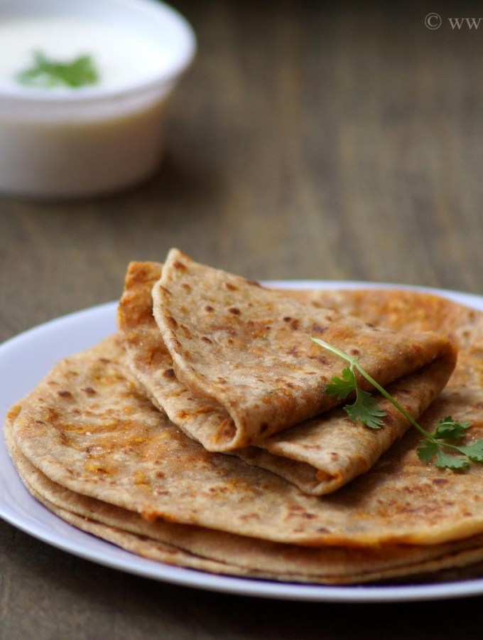 Carrot Paratha Recipe – Stuffed Carrot Paratha Recipe – Step by Step Recipe – Indian Paratha Recipes