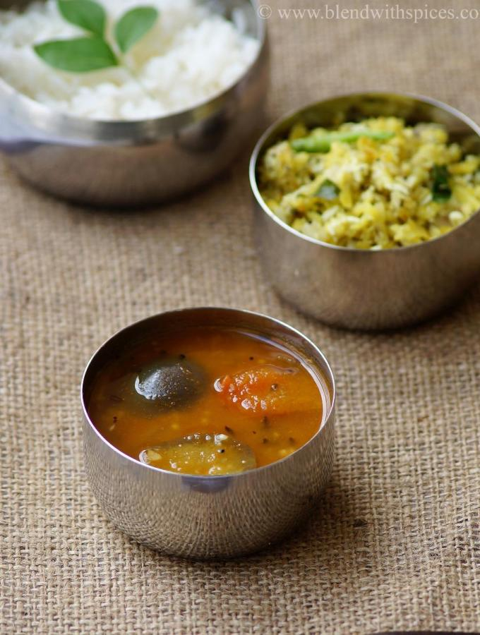 Vankaya Sambar Recipe – Kathirikai Sambar – South Indian Brinjal Sambar Recipe