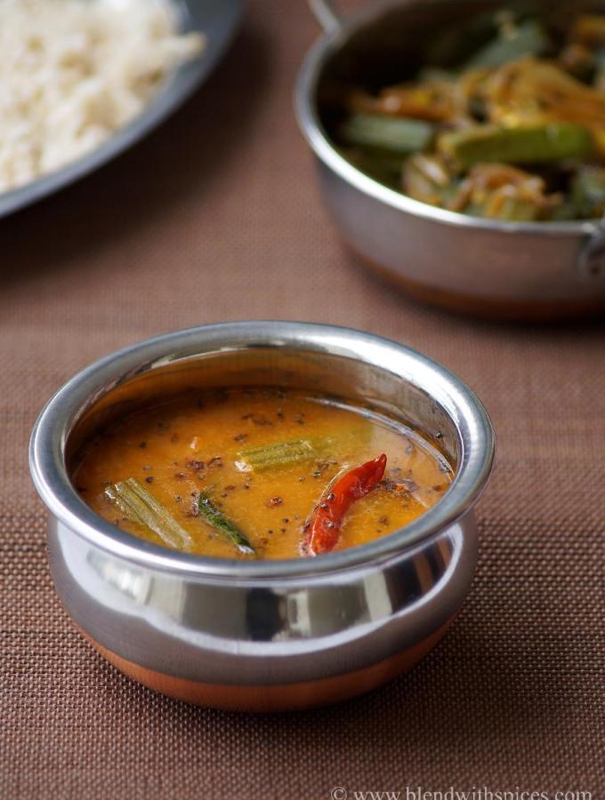Munakkada Pesarapappu Sambar Recipe ~ Drumstick Sambar with Moong Dal