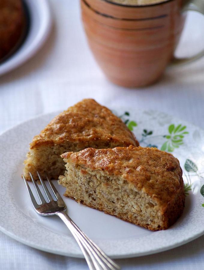 Eggless Banana Cake Recipe – Vegan Banana Cake Recipe – Step by Step Pictures