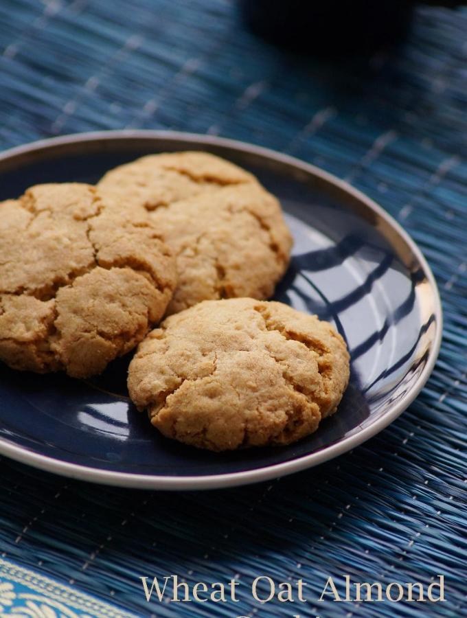 Eggless Wheat Oat Almond Cookies Recipe – Christmas Cookie Recipes