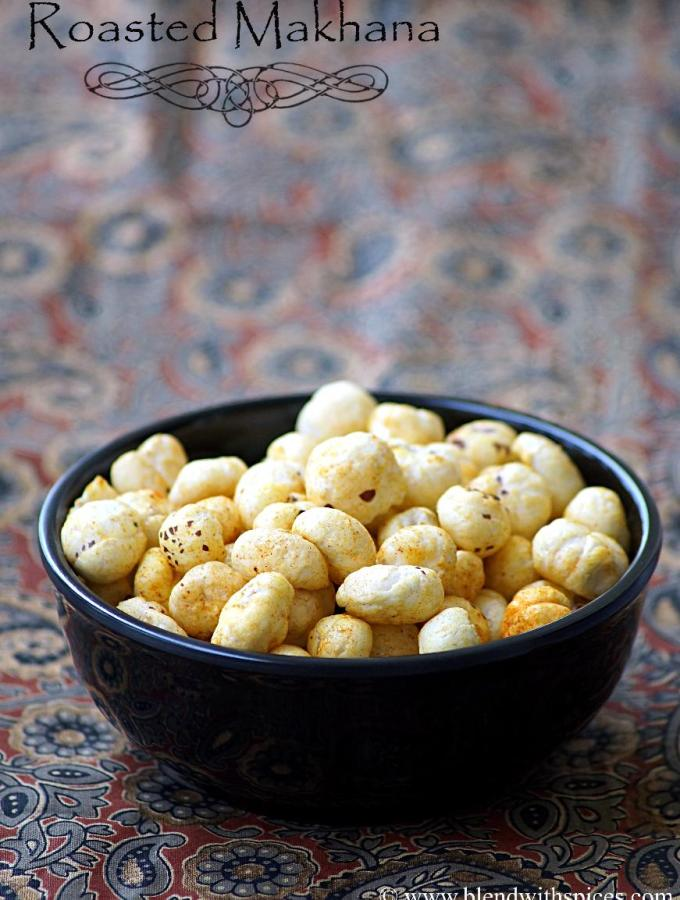 Roasted Phool Makhana Recipe ~ Roasted Fox Nuts