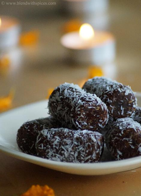 how to make coconut date rolls, diwali sweet recipes