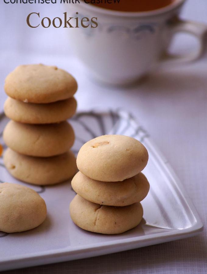 Condensed Milk Cashew Cookies Recipe – Easy Christmas Cookies Recipes