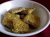 nuvvula chikki recipe, how to make sesame chikki