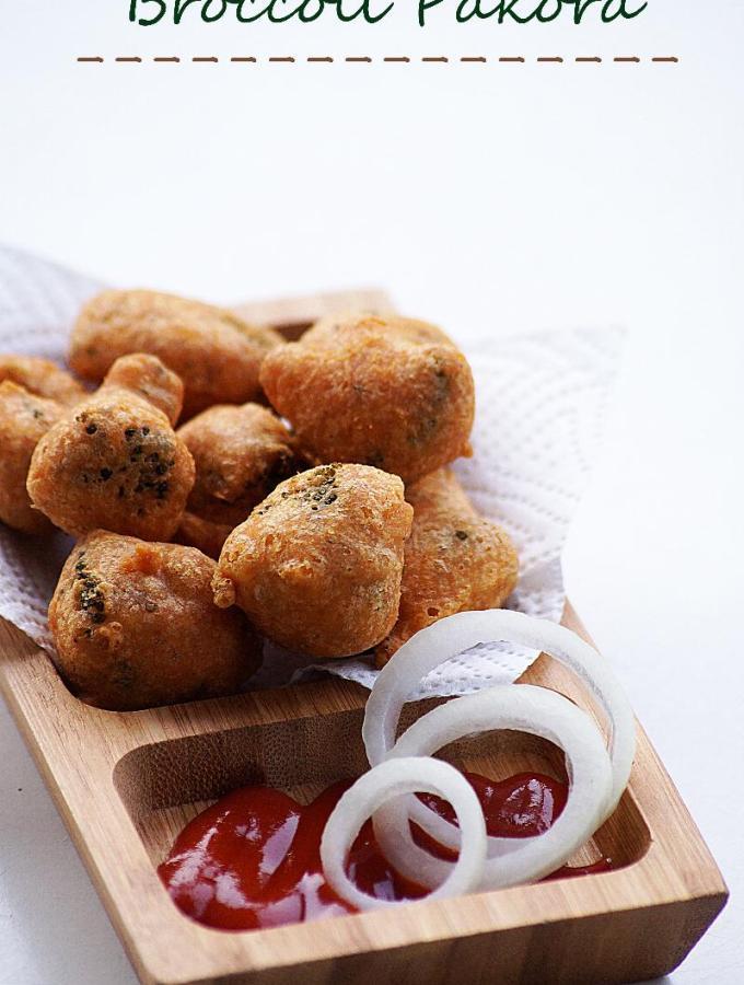 Broccoli Pakora Recipe – How to make South Indian Style Broccoli Bajji Recipe – Indian Broccoli Recipes