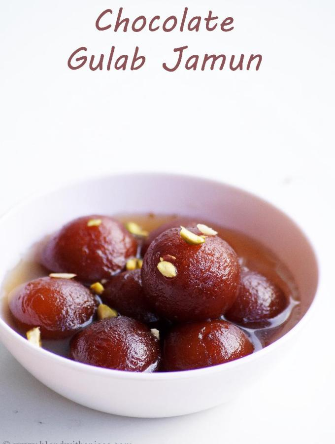 Chocolate Stuffed Gulab Jamun Recipe – How to make Chocolate Gulab Jamun with Instant Mix – Easy Indian Dessert Recipes