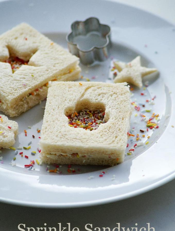 Sprinkle Sandwich Recipe – Fairy Bread Sandwich Recipe – Kids Snack Box Recipes
