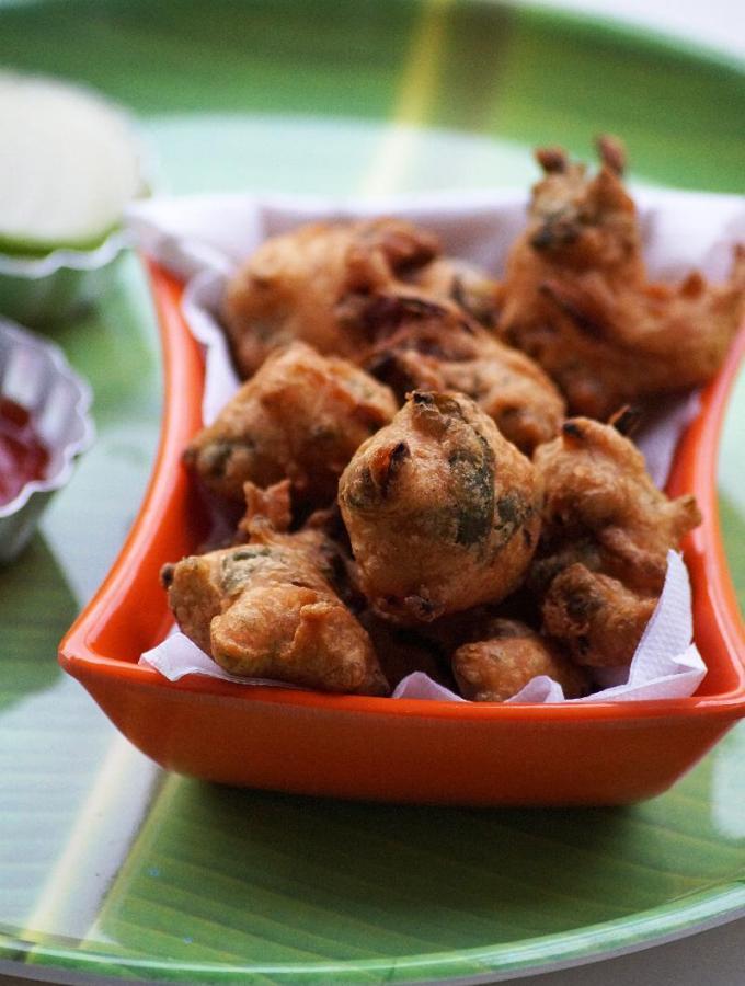 Radish Leaves Pakora Recipe – Indian Radish Greens Recipes