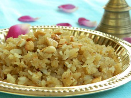 Sweet Poha | Festival Naivedyam Recipe - Blend with Spices