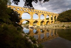 The Pont Du Gard aqueduct in France
