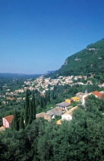 Village near Paleokastritsa, Corfu, Greece