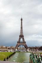 Eiffel Tower viewed from Champ de Mars Paris France
