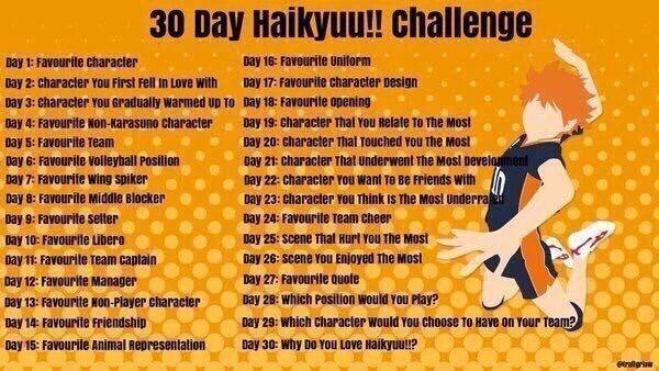 haikyuu challenge