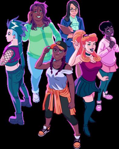 High Elo Girls Characters Blerdy Otome